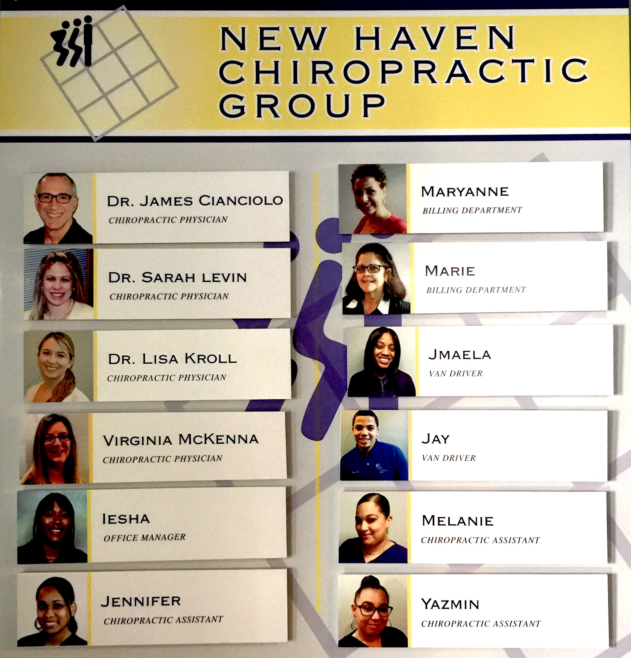 new haven chiropractic group board